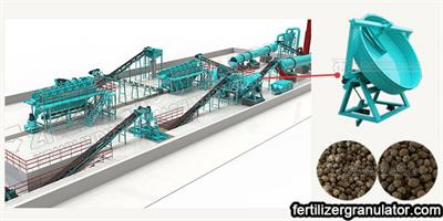 Small Scale Disc Granulator Organic Fertilizer Manufacturing Process