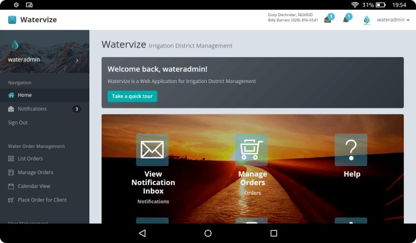 Watervize - Irrigation District Management Software