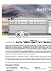 Show - Bumper Pull Cattle Trailers Brochure