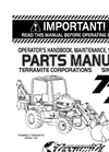 Terramite - Model T7 - Compact Tractor Loader Backhoe Manual